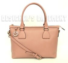 GUCCI pink leather gold GG CHARM convertible MEDIUM TOTE crossbody bag NWT Auth