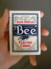 BLACK Bee USPCC logo Jumbo Index Tech Art playing cards - RARE, less than 3000