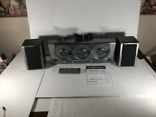 Emerson Ms3106 3 Cd-R/Rw Audio System with 2 SpeakersRemote & Manual Tested!
