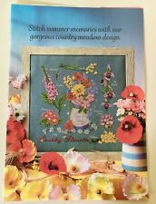 Country Flowers Gorgeous Floral Cross Stitch Chart - Cross Stitch Collection