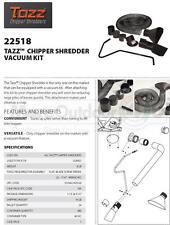 22518 TAZZ Chipper Shredder Mulcher Vacuum Kit Landscaping Gardening Lawn Care