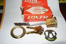 (2) VINTAGE LOXEN ACROLOK BRASS RIM CYLINDER NO. 03 2105 003 90.   SCHLAGE C.