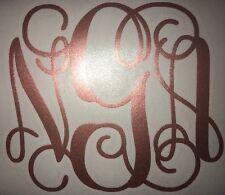 Vine Monogram Initials In ROSE GOLD VINYL For Your Yeti Rambler, RTIC