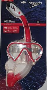 Speedo 7530408 Expedition Mask + Snorkel Adult Red
