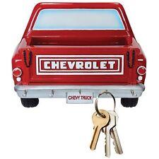 Red key Rack w/ Letter Holder 3D Chevy Pickup Truck  5 Key Hooks chain Hanger