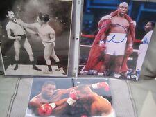 (3) Heavy Weight Boxing Photos Coa Autograph Foreman Tyson