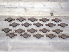 20 CAST IRON BROWN CUP PULLS DRAWER CABINET BIN HANDLES RUSTIC VINTAGE ORNATE
