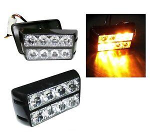 Auto LED Frontblitzer Warnleuchten Blitzlicht Strobe Leuchte 12-24V LKW Lampe