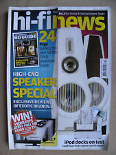 HI FI NEWS MAGAZINE DECEMBER 2008 - IPOD DOCKS HDTV SHANLING CURVI SONUS & MORE
