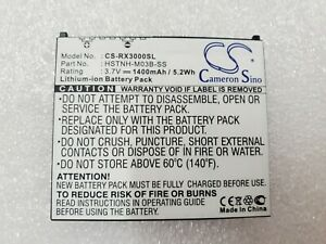 Rechargeable Standard Battery for HP iPaq hx2000 & rx3000 Series CS-RX3000SL