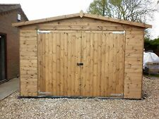 20 X 10 HAND MADE QUALITY WOODEN T&G TIMBER GARAGE