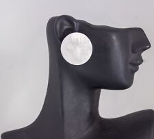 1 Paar  Ohrstecker groß Ohrringe rund 2,5cm silberfarbig