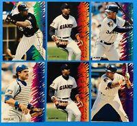 (6) 1995 All Fleer Baseball Card  Insert Lot Barry Bonds Ken Griffey Jr.