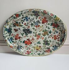 Large Vintage Floral Daher Decorative Ware Tin Tray