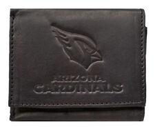 Arizona Cardinals NFL Embossed Logo Black Leather Trifold Wallet