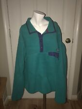 PATAGONIA Vintage 80S Green Snap Fleece Size LARGE  pullover