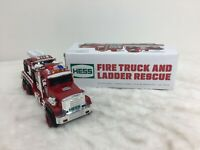 Hess 2015 Fire Truck And Ladder Rescue Collectible Toy w/ Original Box Tested