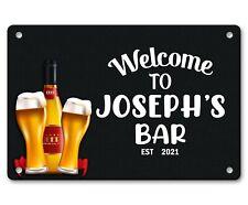 Personalised Bar Sign Any Name Garden Plaque Gift Bar Pub Backyard Bar Sign 23