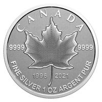2021 CANADA $5 Pulsating Silver Maple Leaf Arboreal emblem -  coin only