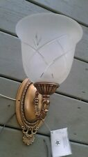 Willshire new light fixture wall mount montage mural suelement goldtone ornate