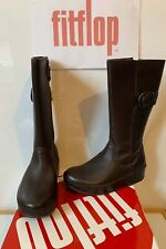 Fitflop Hooper Tall Leather Ankle Boots Size UK 3 EU 36 NEW