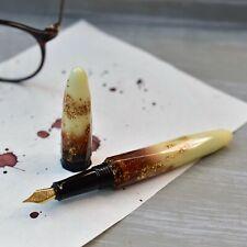 Benu Briolette Collection Luminous Amber Fountain Pen