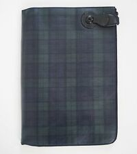 $1250 RALPH LAUREN Purple Lbl BLACKWATCH Tartan Leather Portfolio Document Case