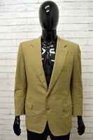 Giacca LANVIN PARIS Uomo Taglia Size 48 Maglia Blazer Jacket Man Cotone a Quadri