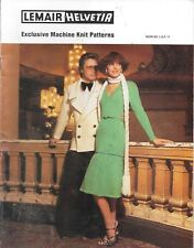 Vintage machine knitting pattern lemair special occasion ladies men's retro