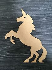 laser cut rising unicorn 3mm thick mdf craft embellishment
