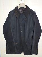 barbour bedale jacket waxed cotton blue 100%authentic c44/112 xl