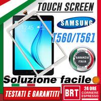 """TOUCH SCREEN+VETRO+BIADESIVO PER SAMSUNG GALAXY TAB E 9.6"""" SM-T560 T561 SCHERMO!"""