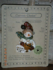 Boyds Bears 1999  ~ J.R. FAIRBANKS...FREEZE ~CARVERS CHOICE PIN STYLE #370505