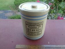 Antique Advertising Stoneware Crock Front & Back Patented 6-2-14 w LID
