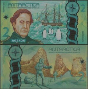 Antarctica 2 Dollars 2020 1st Prefix 'A' Polymer Banknotes UNC @Ebanknoteshop