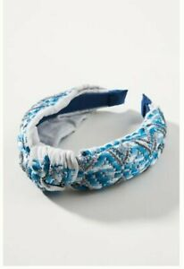 Anthropologie Lita Knotted Headband Blue NWT