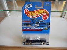 Hotwheels '65 Ford Mustang Convertible in Dark Purple on Blister