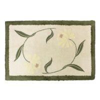 NEW Croscill Penelope Floral Green Bath Rug
