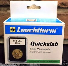 5 Lighthouse QUICKSLAB Coin Holder 20mm 1/4oz Gold Maple Leaf Capsule Case Slab