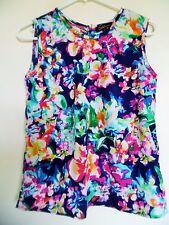 Dalia collection. Multi Print , tank top blouse, Sz S