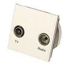 Triax Modular Blende Satellite Doppel TV/Radio Einsatz Modul weiß