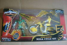 MYSTIC FORCE GREEN & YELLOW RANGERS DLX CYCLE SET MIB