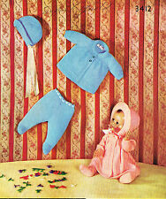 """Dolls clothes knitting pattern for 18"""" & 19"""" doll.  Laminated  copy. (V Doll 106"""