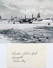 Enola Gay Crew Navigator Dutch Van Kirk Autograph Hiroshima Aug 6 1945