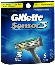 Gillette Sensor3 Shaving Cartridges, 8 Cartridges (6 Pack)