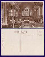 UK CORNWALL INTERIOR FALMOUTH PARISH CHURCH REAL PHOTO BY W.H. SMITH & SON