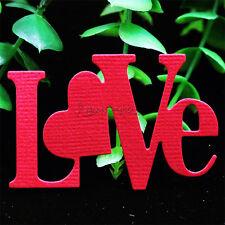 Embossing Valentine's Day LOVE Cutting Dies Stencil Scrapbooking Album Template