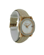 Wittnauer Crystal VN2003 Women's Roman Numeral Mother of Pearl Date Analog Watch