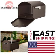 Centennial Rubbed Bronze Post Mount Mailbox W/ Silver Flag Extra Large Capacity