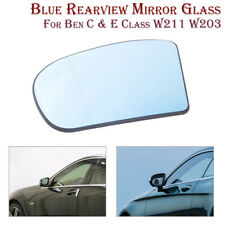 Left Side Blue Mirror Heated Glass For Mercedes E C Class W211 W203 2001-2007